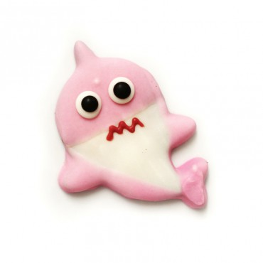Galleta baby shark rosa